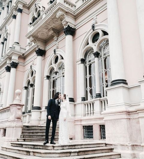 Stairs, Architecture, Standing, Facade, Arch, Column, Palace, Classical architecture, Medieval architecture, Arcade,