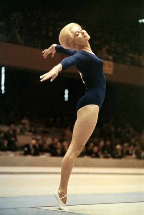 <p>The '60s of course brought us big hair in the form of bouffants and beehives, and the gymnastics team of 1964 somehow maintained that volume through their routines. This feat deserved a medal in its own right, but the team (competing in Tokyo) unfortunately ended up in 8th place all-around. </p>