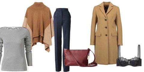 Brown, Collar, Sleeve, Textile, Coat, Outerwear, Formal wear, Bag, Pattern, Blazer,