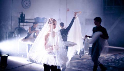Bridal veil, Bridal clothing, Veil, Wedding dress, Gown, Bride, Performance art, Tradition, Ceremony, Wall clock,