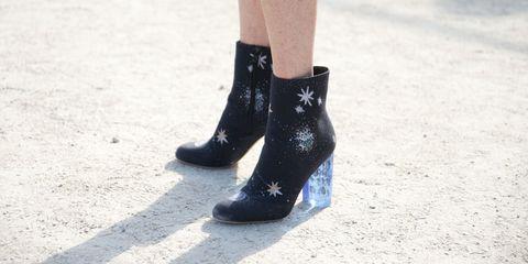 Human leg, Style, Grey, Beige, Tan, Close-up, Calf, Ankle, Silver, Dress shoe,