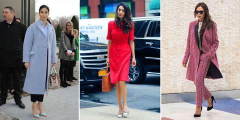 Clothing, Street fashion, Fashion, Pink, Red, Dress, Footwear, Fashion model, Shoe, Formal wear,