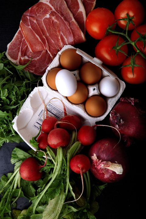 organic fresh produce meat eggs and vegetables