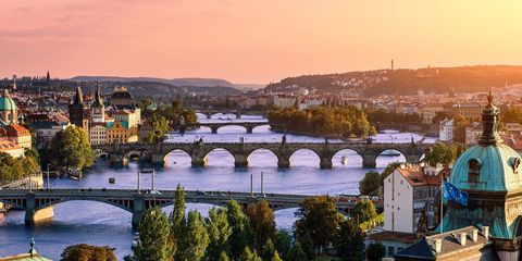 Bridge, Aqueduct, Arch bridge, Tree, Arch, Waterway, Viaduct, Channel, Bank, Evening,