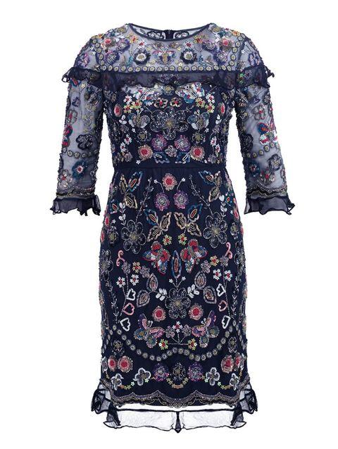 Blue, Sleeve, Textile, Pattern, Dress, Style, Fashion, Electric blue, Cobalt blue, Day dress,