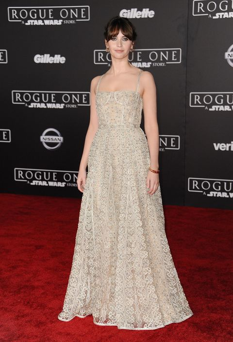 "<p>Felicity Jones spent the year as a red-carpet fixture. Her latest style win was a princess-like Christian Dior gown at the premiere of <em data-redactor-tag=""em"" data-verified=""redactor"">Rogue One: A Star Wars Story.</em></p>"