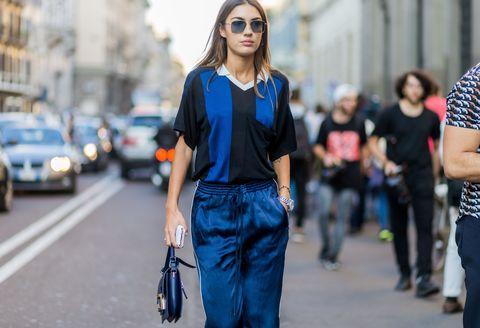 Trousers, Denim, Bag, Street, Street fashion, Style, Waist, Luggage and bags, Fashion accessory, Fashion,