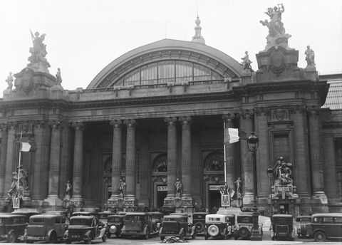 PARIS, FRANCE - SEPTEMBER: Paris Auto Show at the Grand Palais in September 1929 in Paris, France. (Photo by Gamma-Keystone via Getty Images)