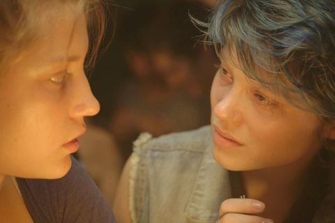 <p>Settle in for Abdellatif Kechiche's Palme d'Or-winning love story; it clocks in at about, oh, three hours. With subtitles. An erotic epic involving a high schooler (Adèle Exarchopoulos) and the blue-haired key (Lea Seydoux) to her sexual awakening, this one's a poignant ode to young love anyone can relate to.</p>