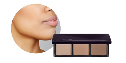 """<p>For warm, deeper skin tones, Sir John&nbsp;uses contour shades with gray undertones to increase the depth of the contour. """"A cool matte recedes for that sculpted, hallowed effect,"""" he says.</p><p>Try: Fiona Stiles Sheer Sculpting Palette, $28; <a href=""""http://bit.ly/2kxKKfN"""" target=""""_blank"""" data-tracking-id=""""recirc-text-link"""">ulta.com</a>.&nbsp;<span class=""""redactor-invisible-space"""" data-verified=""""redactor"""" data-redactor-tag=""""span"""" data-redactor-class=""""redactor-invisible-space""""></span></p>"""