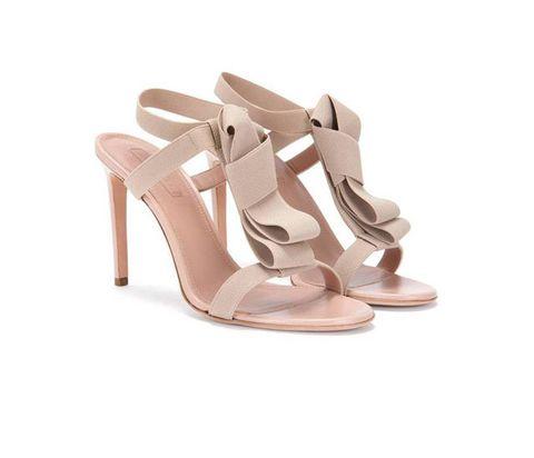 Footwear, Sandal, High heels, Shoe, Beige, Slingback, Basic pump, Strap, Bridal shoe, Court shoe,