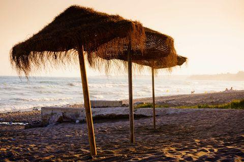 Sky, Water, Sea, Beach, Ocean, Shade, Tree, Coast, Thatching, Gazebo,