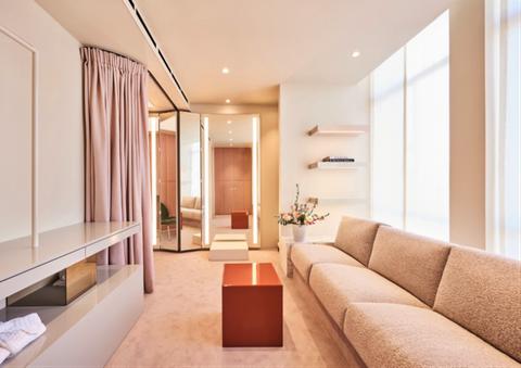 Interior design, Floor, Room, Property, Flooring, Ceiling, Couch, Wall, Interior design, Fixture,
