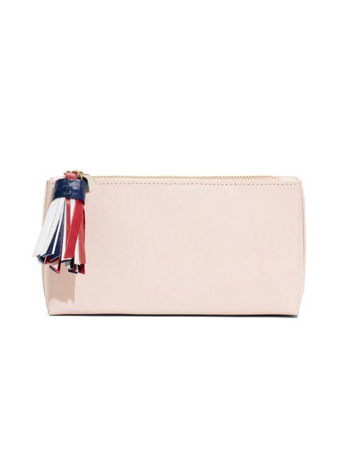 Wallet, Handbag, Bag, Beige, Pink, Fashion accessory, Leather, Coin purse, Wristlet, Magenta,