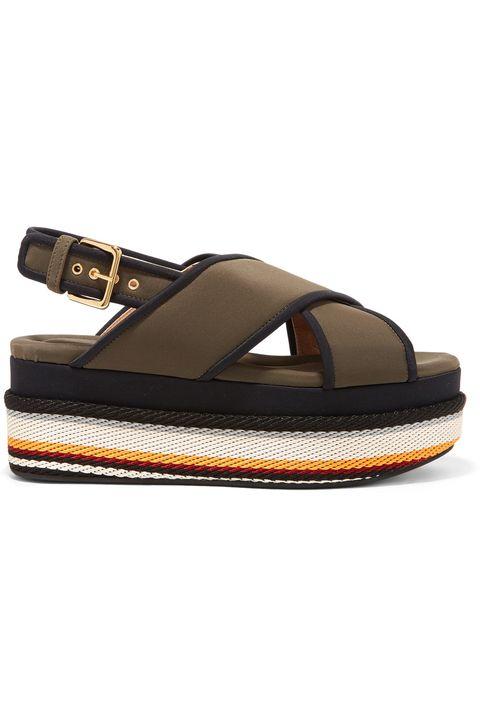 Footwear, Slingback, Sandal, Shoe, Beige, Flip-flops, Strap, Leather, Espadrille,