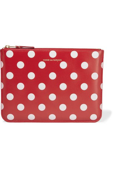 Pattern, Red, Polka dot, Wallet, Rectangle, Design, Coin purse,