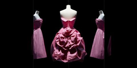 Dress, Clothing, Pink, Fashion, Cocktail dress, Purple, Formal wear, Gown, Costume design, Fashion design,