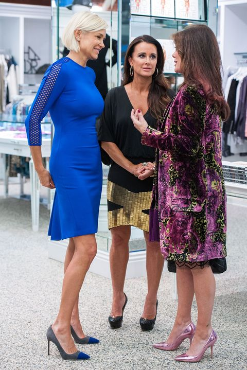 Blue, Red, Yellow, Fashion, Purple, Dress, Event, Electric blue, Footwear, Fashion design,