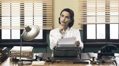 Job, Office, Desk, White-collar worker, Interior design, Employment, Office equipment, Sitting, Furniture, Output device,