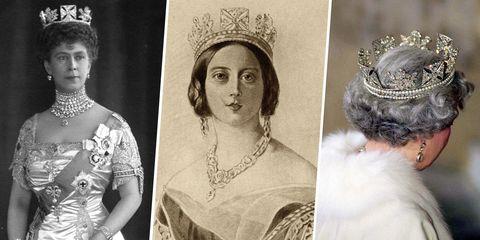 <p>Deze kroon is gemaakt voor de kroning van&nbsp;Koning George IV in 1821. Koningin Victoria en Koningin Mary hebben de kroon beide gedragen, en is sindsdien in de familie gebleven. Koningin Elizabeth II droeg de kroon tijdens haar kroning en draagt het nog steeds tijdens de opening van het parlementair jaar. De kroon bestaat uit maar liefst 1333 diamanten en het kostte&nbsp;€&nbsp;8936,- om de kroon in 1820 te laten maken.</p>