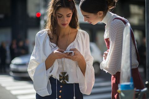 White, Street fashion, Fashion, Beauty, Snapshot, Outerwear, Lip, Human, Interaction, Photography,