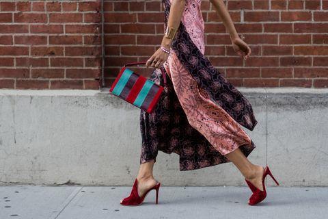 Fur, Plaid, Pink, Fashion, Leg, Shoulder, Design, Tartan, Pattern, Street fashion,