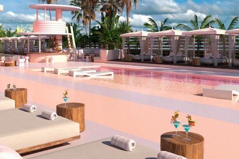 resort, property, vacation, building, architecture, real estate, swimming pool, palm tree, hotel, leisure,