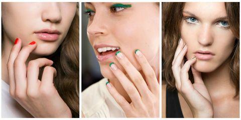 Finger, Lip, Cheek, Brown, Skin, Green, Eyelash, Eyebrow, Nail, Style,