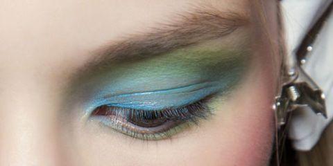 Skin, Eyelash, Eyebrow, Iris, Organ, Teal, Photography, Close-up, Eye shadow, Makeover,