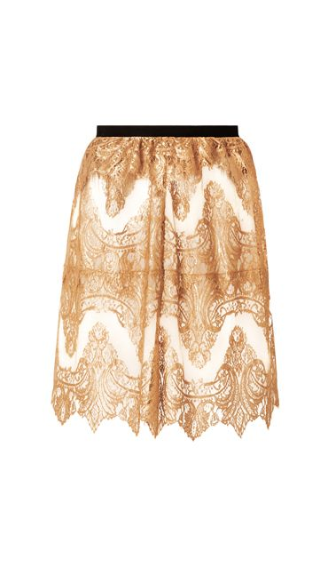 <p>裸色蕾絲裙,NT 56,000,Burberry Prorsum。</p>