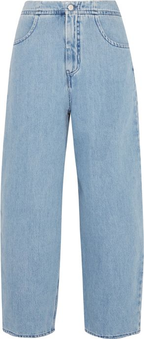 <p>高腰闊腿丹寧褲,約NT12,090,MM6 Maison Margiela at Net-A-Porter。</p>