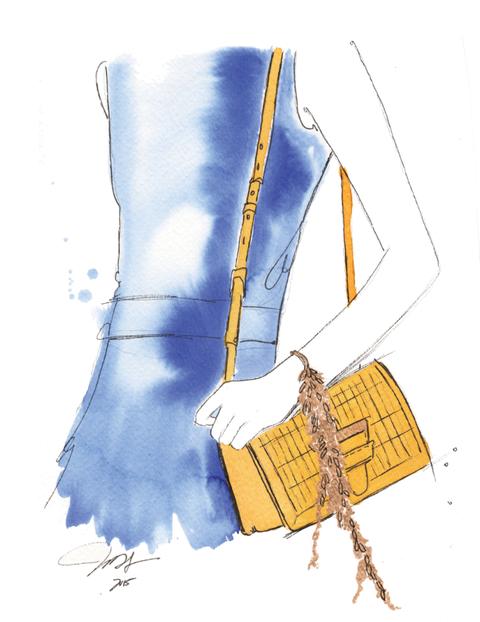 <p>這款包十分引人注目,我喜歡那明亮的色調和金色風格的搭配。</p>