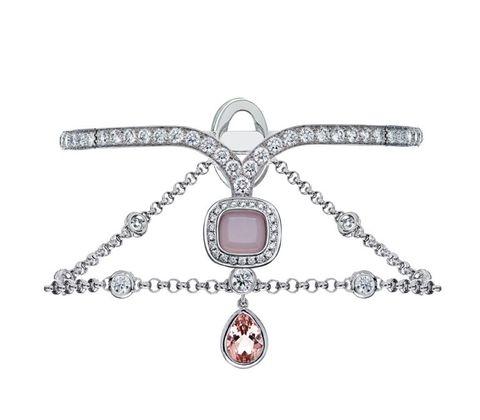 <p>Apparat 系列白K金鑲粉紅蛋白石、碧璽與白鑽手環 NT$ 3,663,000</p>