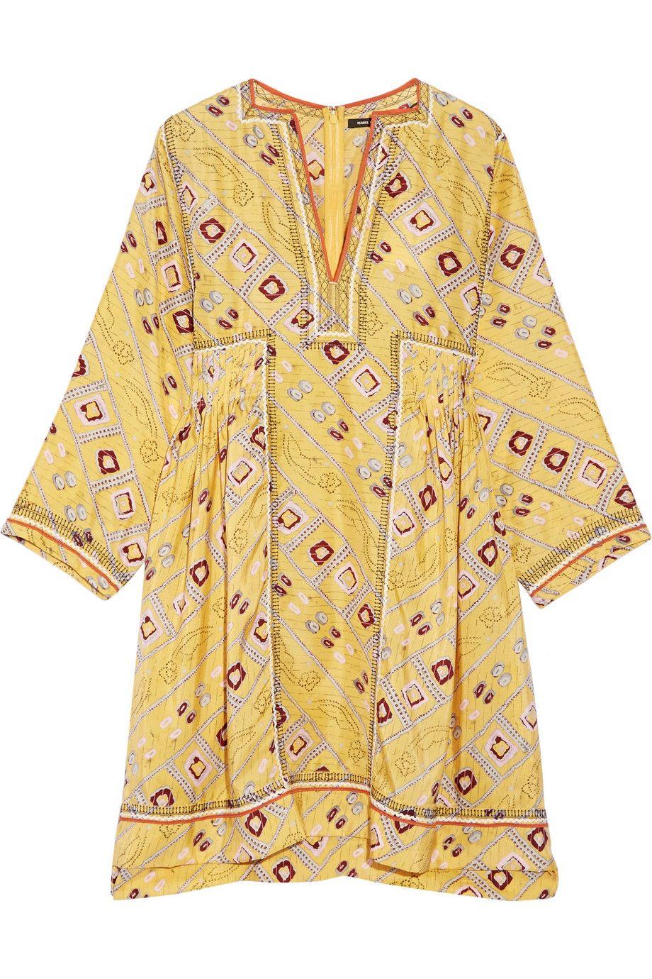 <p>印花絲綢洋裝,約NT32,530,Isabel Marant at Net-A-Porter。</p>