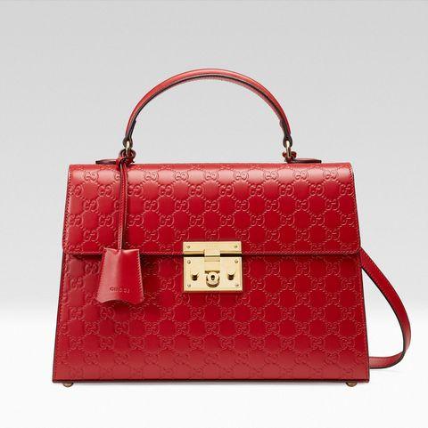 <p>雙G花紋小牛皮包,NT82,500,Gucci。</p>