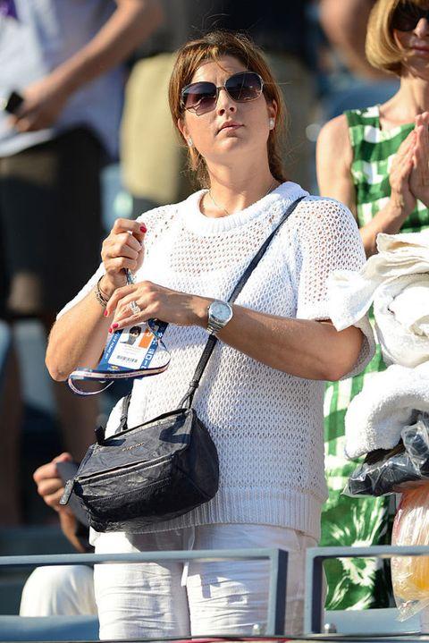 <p>有網球天王之稱的Roger Federer,太太Mirka Federer的身影總在場邊陪伴著。</p>