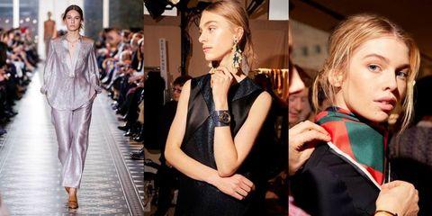 Face, Nose, Style, Fashion show, Fashion accessory, Fashion model, Runway, Fashion, Eyelash, Street fashion,