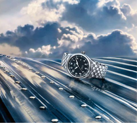 Watch, Analog watch, Metal, Highway, Azure, Watch accessory, Steel, Brand, Freeway, Silver,