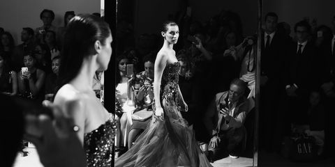 Photograph, Monochrome, Style, Monochrome photography, Dress, Black-and-white, Fashion, Gown, One-piece garment, Haute couture,