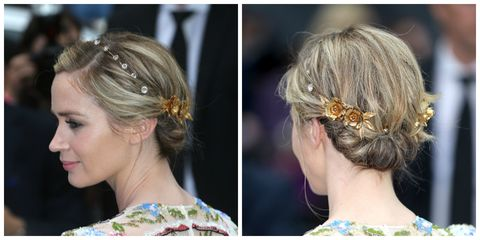 <p>精緻的法式低盤髮配上細膩的飾品,巧妙演繹了優雅的宮廷風情。</p>