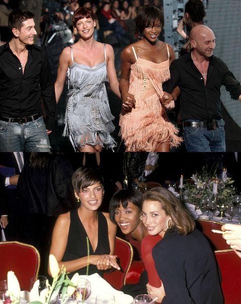 <p>          </p><p>集眾設計師寵愛於一身,身為The Big Five一員的傳奇超模-Linda Evangelista,百變的髮型、女王般的架勢,讓她在90年代紅透半邊天。</p>  <p>她與Naomi Campbell、Christy Turlington私交友好,三人甚至被稱為是The Trinity!更傳言Linda Evangelista和Christy Turlington曾對Dolce&Gabbana表示,要是不請Naomi Campbell一起來走秀,她們就不做了!</p>  <p>(上) Stefano Gabbana、Linda Evangelista、Naomi Campbell和Domenico Dolce。(從左至右)</p>  <p><span>(下)Linda Evangelista、Naomi Campbell和Christy Turlington。(從左至右)</span></p>