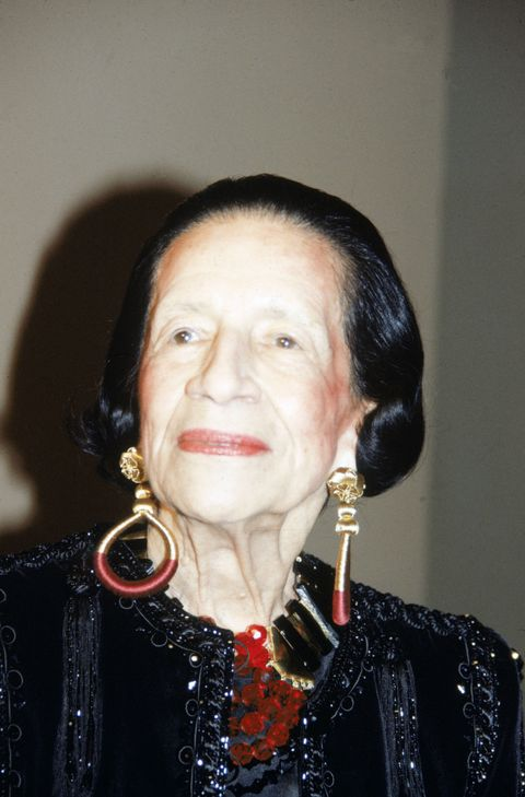 French-born American fashion writer and editor Diana Vreeland (1906 - 1989) poses for a picture during the gala opening of the Metropolitan Museum Fashion Institute's exhibit 'Man and the Horse,' New York, December 3, 1984. (Photo by Tom Gates/Getty Images)