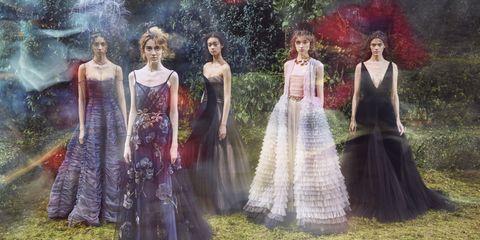Dress, Formal wear, Art, Gown, Victorian fashion, One-piece garment, Painting, Day dress, Costume design, Fashion design,