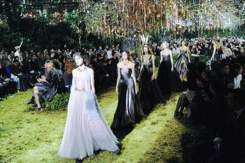 Dress, Gown, Bridal clothing, Formal wear, Petal, Wedding dress, Bride, Bridal party dress, Ceremony, Tradition,
