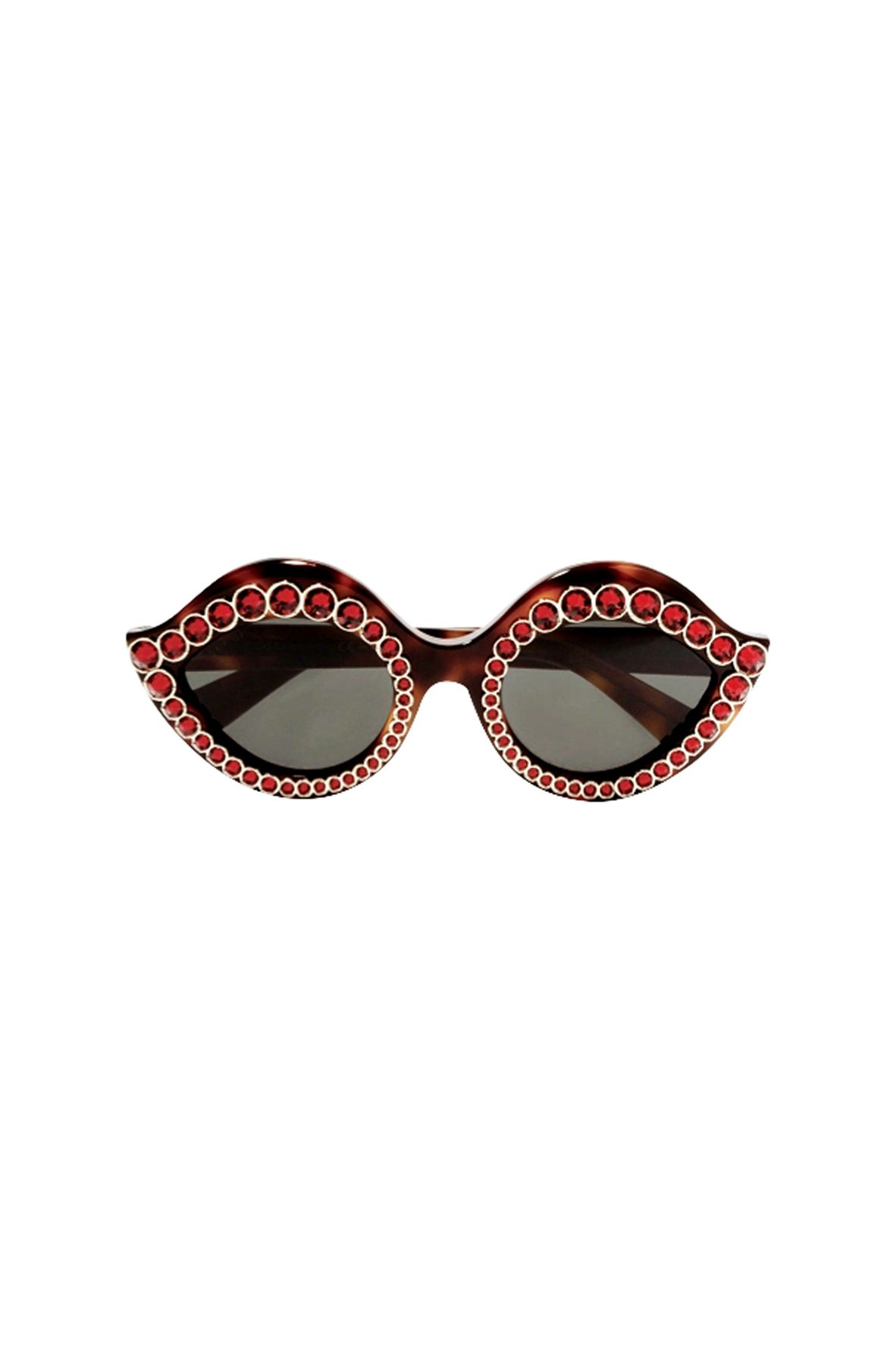 """<p><strong data-redactor-tag=""""strong"""">水晶裝飾玳瑁紋貓眼墨鏡,約NT26,600,Gucci at Net-A-Porter。</strong></p>"""