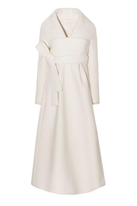 <p> 白色蝴蝶結綁帶洋裝,價格電洽,Delpozo。</p>
