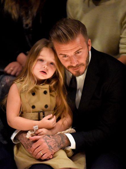 <p>集寵愛於一身的Harper Seven Beckham,在設計師媽媽Victoria Beckham的照料下,無非是備受矚目的小小It Girl。在Burberry的時裝秀上,品牌經典風衣化身為小洋裝,無袖設計凸顯她的稚氣可愛,也流露濃厚的英式魅力。  </p>