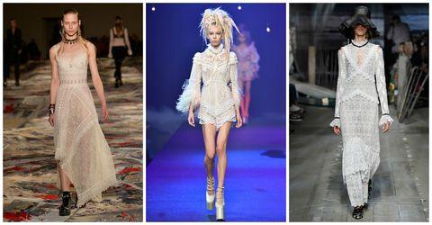 <p>對於春日的期待,如蕾絲般柔軟。當街頭女孩遇見蕾絲,摺飾與刺繡的細膩情懷不須捨棄,配件與態度的搭配,讓妳在修煉溫柔的同時也保有一點叛逆性格。  </p><p>Alexander McQueen 2017 SS / Marc Jacobs 2017 SS/ Erdem 2017 SS</p>