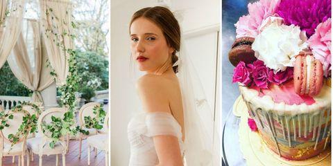 Petal, Sweetness, Photograph, Dessert, Strapless dress, Bridal clothing, Dress, Food, Baked goods, Pink,