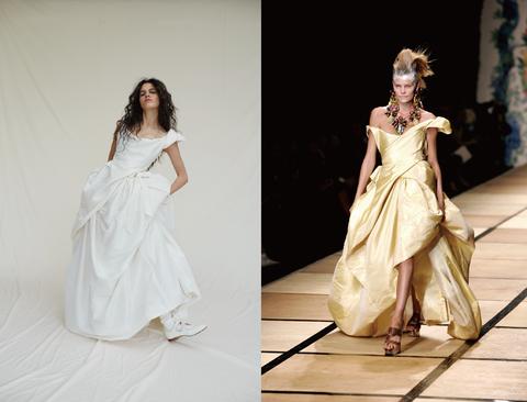 "<p> 今年春夏,Vivienne Westwood為我們帶來數款魅力各異的另類婚紗,在客製系列中,她汲取過往時裝系列發表的經典設計,融入現代嫁衣,<span class=""redactor-invisible-space""></span>如浪花般的不規則裁片化身俐落蓬裙、細膩皺褶躍上胸線,量身打造每位新娘的時裝異想。自由選擇喜歡的款式、布料及細節,隨即進行量身並修改,成為穿上Vivienne Westwood的前衛新娘。<span class=""redactor-invisible-space"" data-verified=""redactor"" data-redactor-tag=""span"" data-redactor-class=""redactor-invisible-space""></span><span class=""redactor-invisible-space"" data-verified=""redactor"" data-redactor-tag=""span"" data-redactor-class=""redactor-invisible-space""></span></p><p>Vivienne Westwood<span class=""redactor-invisible-space"" data-verified=""redactor"" data-redactor-tag=""span"" data-redactor-class=""redactor-invisible-space"">2017Made To Order客製系列。</span><span class=""redactor-invisible-space""></span><br></p>"